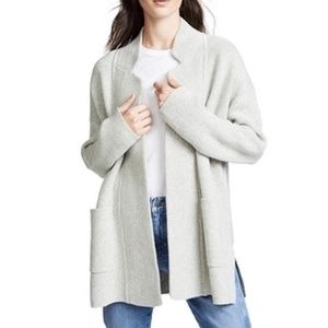 Madewell Spencer Sweater Coat Grey Size M NWT